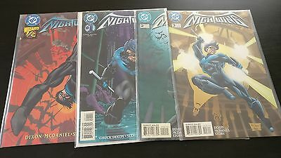 Rare NIGHTWING #1-3 & Wizard 1/2 issue , 1996, VF- good condition