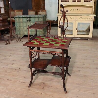 Secretary desk desk furniture wood bamboo table antique style antiques 900