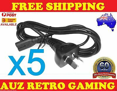5x Power Supply Cable Cord Lead for SONY Playstation 3 PS3 PS4 SLIM Slimline