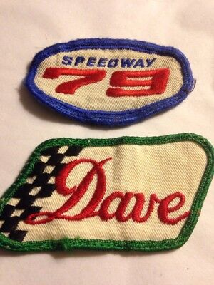 2 Vintage Speedway gas station shirt name patches/age unknown/Dave