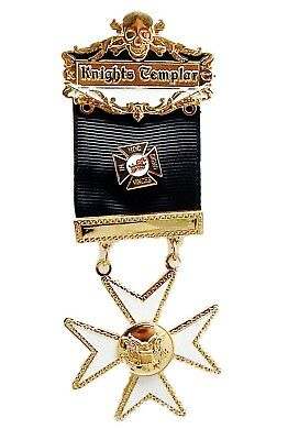 York Rite Knights Templar Malta Maltese Cross DELUXE Masonic Jewel NEW Design!