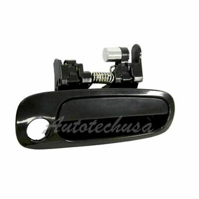 B579 TOYOTA COROLLA For 98-02 Smooth Black Door Handle Front Right