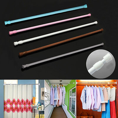 US Spring Loaded Extendable Telescopic Net Voile Tension Curtain Rail Pole Rods