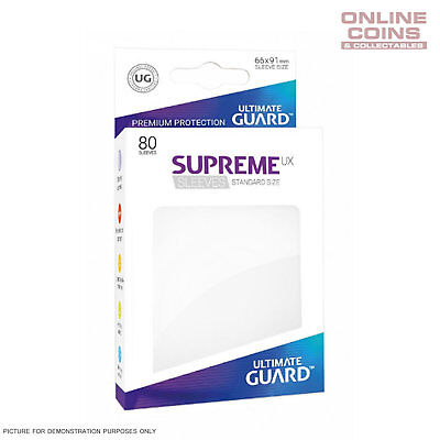 Ultimate Guard SUPREME UX High Quality Card Sleeves - WHITE - Pokemon MTG