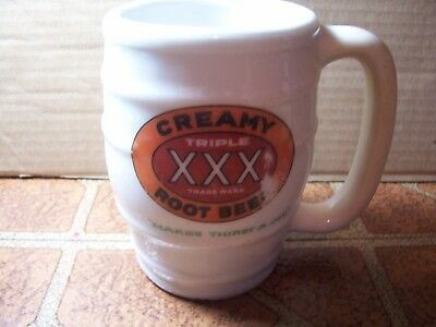 "Creamy Triple ""XXX"" Restaurant Root Beer Mug - 1930's Makes Thirst A Joy"