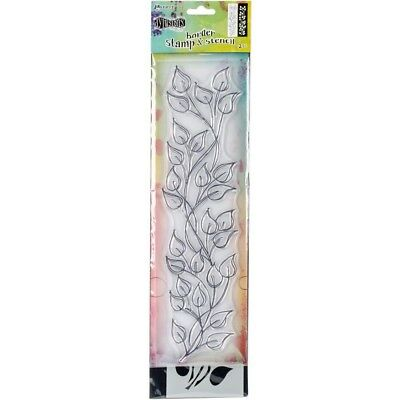 "Dyan Reaveley's Dylusions Clear Stamp & Stencil Set - 12"" - Leaf"