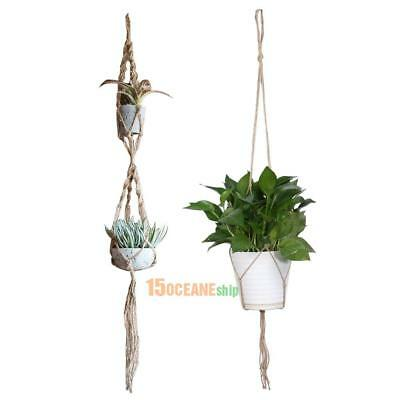Macrame Plant Hanger Garden Flowerpot Holder Gardenpot Lifting Rope Home Decor