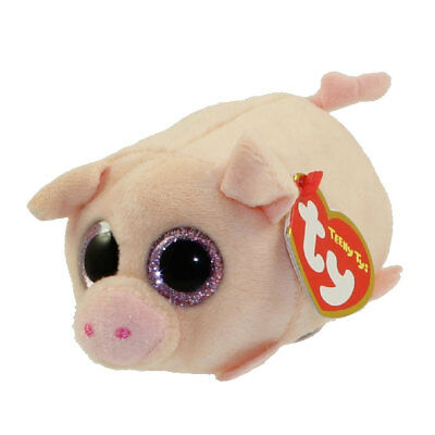 """TY Beanie Boos Teeny Tys 4"""" CURLY Pig Stackable Plush Stuffed Animal Toy MWMT's"""