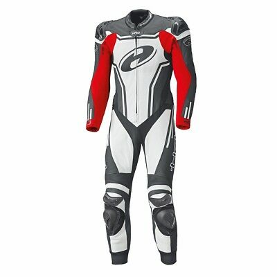 Held Rush Black / White / Red Moto Standard One Piece Leather Suit All Sizes