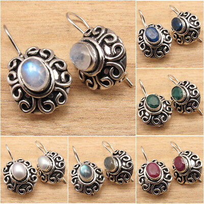 ETHNIC Jewelry ! 925 Silver Plated Vintage Style Earrings Brand New