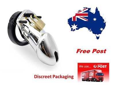 CB 6000 Poly-carbonate Cock cage Male Chastity Device Silver.... Aussie stock
