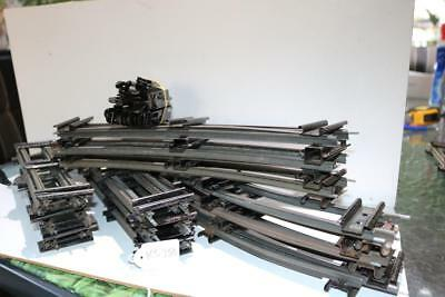 o gauge track x 12 straits and 12 curves with connecting plates