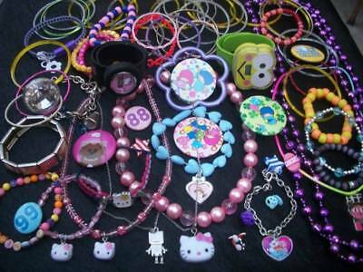 Lot Of Little Girls Costume Jewlery Fun Cute Pieces Some Hello Kitty Gifts