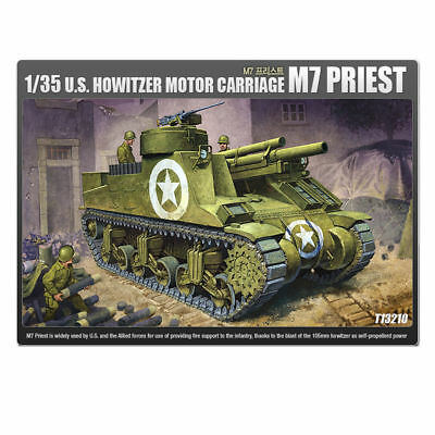 ACADEMY #13210 1/35 Plastic Model Kit US Howitzer Motor Carriage M7 Priest