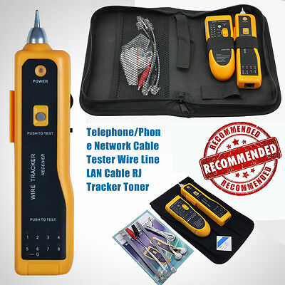 Cable Tester Tracker Phone Line LAN Network Finder RJ11 RJ45 Wire Tracer Scan