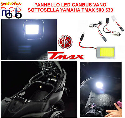 Yamaha Tmax T Max 500  Pannello Led 6000K  Canbus Ultra White Vano Sotto Sella
