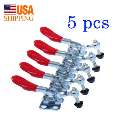 5 PC Red Toggle Clamp GH-201A 201-A Quick Release Metal Horizontal Hand Tool New