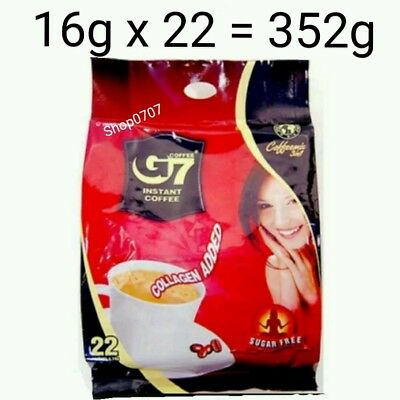 22 x16g Vietnam Trung Nguyen G7 Instant Coffee 3 in 1 COLLAGEN ADDED SUGAR FREE
