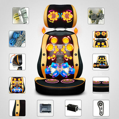 Auto Chinese Massage Chair / Cushion Neck Back Vibrating Massager Body Relax New