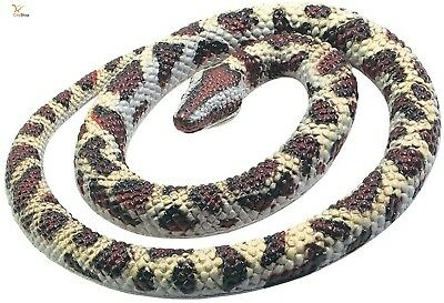 """Fake Realistic Rubber Snake Halloween Rock Python Toy 26"""" Long Props Scary New !"""