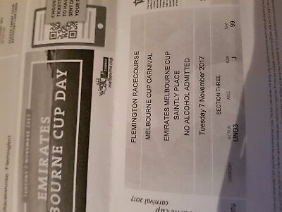 Melbourne Cup Saintly Place Reserved Seat Tickets x 2