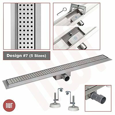 1000mm x 70mm Stainless Steel Rectangular Wetroom Drainage Gully - Shower Drain