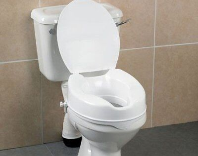 "Days Deluxe 10cm/4"" Raised Toilet Seat (With Lid)"