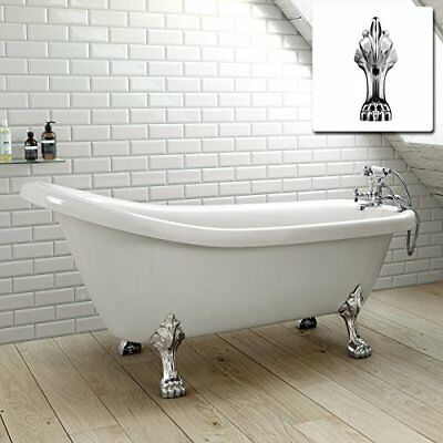 1550mm Traditional Large Roll Top Freestanding Slipper Bath with Dragon Feet