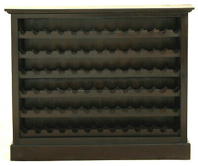NEW OLGAS SOLID Mahogany 78 Bottle Wine Rack