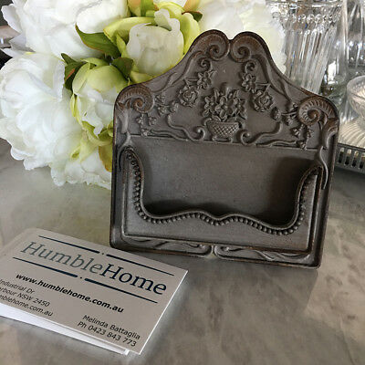 Metal Business Card Holder/Vintage Style/Card Stand