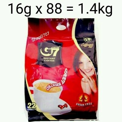 88 x16g Vietnam Trung Nguyen G7 Instant Coffee 3 in 1 COLLAGEN ADDED SUGAR FREE