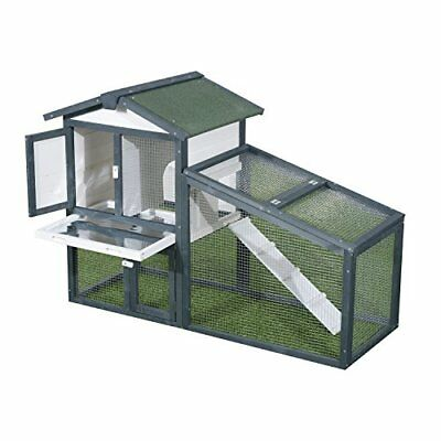 Pawhut Large Wooden Pet Rabbit Hutch and Run Hutches Cage Guinea Pig Ferret