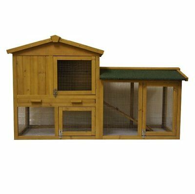 4.82 Ft Large New Indoor Outdoor Wooden Rabbit Hutch, Cage House Hutches