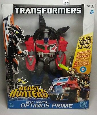 Optimus Prime Transformers Beast Hunters Figure Dragon Cannon New in Box 2013