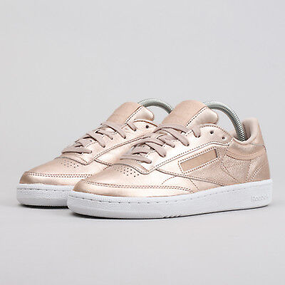 REEBOK CLUB C 85 GOLD Melted Metal ROSE GOLD 85 Pearl Damenschuhe Casual Trainers ... 91ab59