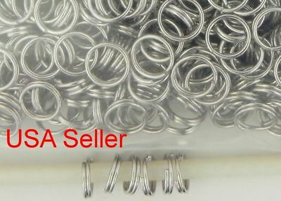 500 Antique Silver Jump Rings Double Loop Split Iron Jewelry Making  7 mm D018