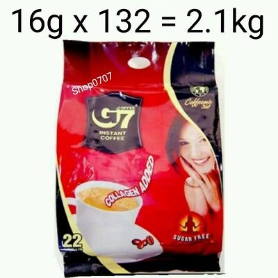 132 x16g Vietnam Trung Nguyen G7 Instant Coffee 3 in 1 COLLAGEN ADDED SUGAR FREE