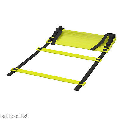 8m AGILITY LADDER 16 Rung Speed Fitness Training Football Exercise 8 Metre Long