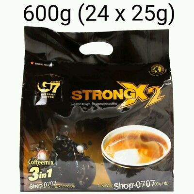 24 sachets x 25g Vietnam Trung Nguyen G7 STRONG X2 Instant Coffee 3in1 Coffeemix