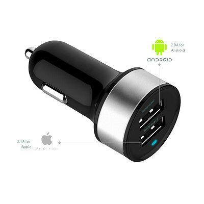 USB AUTO Chargeur 12V schnelllade Adaptateur Dual-USB Ports pour allume-cigare
