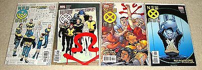 New X-Men #135 to 138 comic lot (2003, Marvel) Riot at Xaviers VF/NM to NM