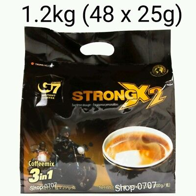 48 sachets x 25g Vietnam Trung Nguyen G7 STRONG X2 Instant Coffee 3in1 Coffeemix