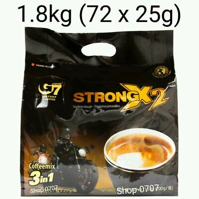 72 sachets x 25g Vietnam Trung Nguyen G7 STRONG X2 Instant Coffee 3in1 Coffeemix