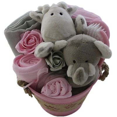 Baby gift basket/hamper girl baby shower new baby gift maternity gift nappy cake