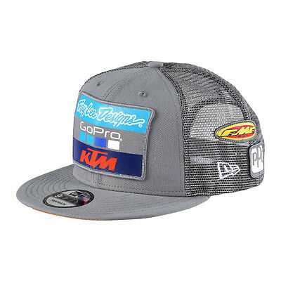 Troy Lee Designs TLD Team KTM Mens Snapback Hat Charcoal Gray