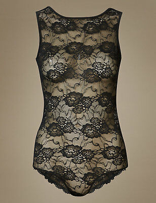 Bnwt Marks & Spencer M&s Isabella Collection Black Lace Body 6 8 10 12