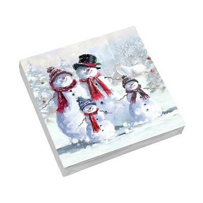 Napkins Serviettes~Snowman Family~Christmas Winter Xmas~Macneil~Free Pp Uk