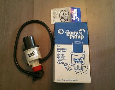 The Pony Pump Keg Tap For Dispensing Draft Beer with Box & Manual