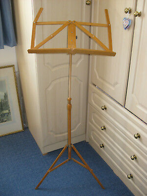 Unusual Vintage 1970s Wooden Folding Music Stand