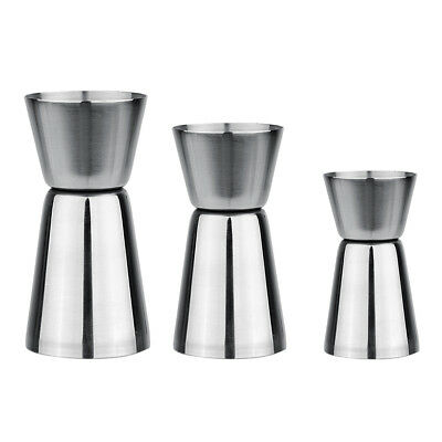 Cocktail Shaker Jigger Single Double Shot Drink Measure Cup Bar Party Wine Maker